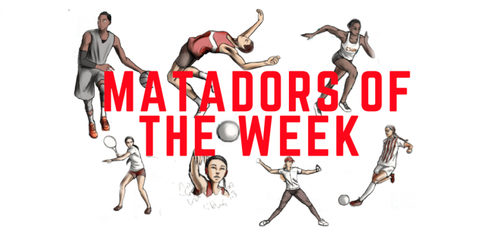 A calendar avdertisement of Matadors of the week