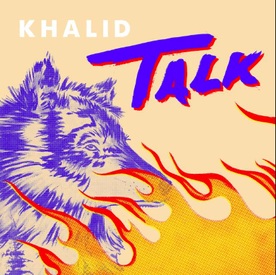 A calendar advertisement called Khalid talk.