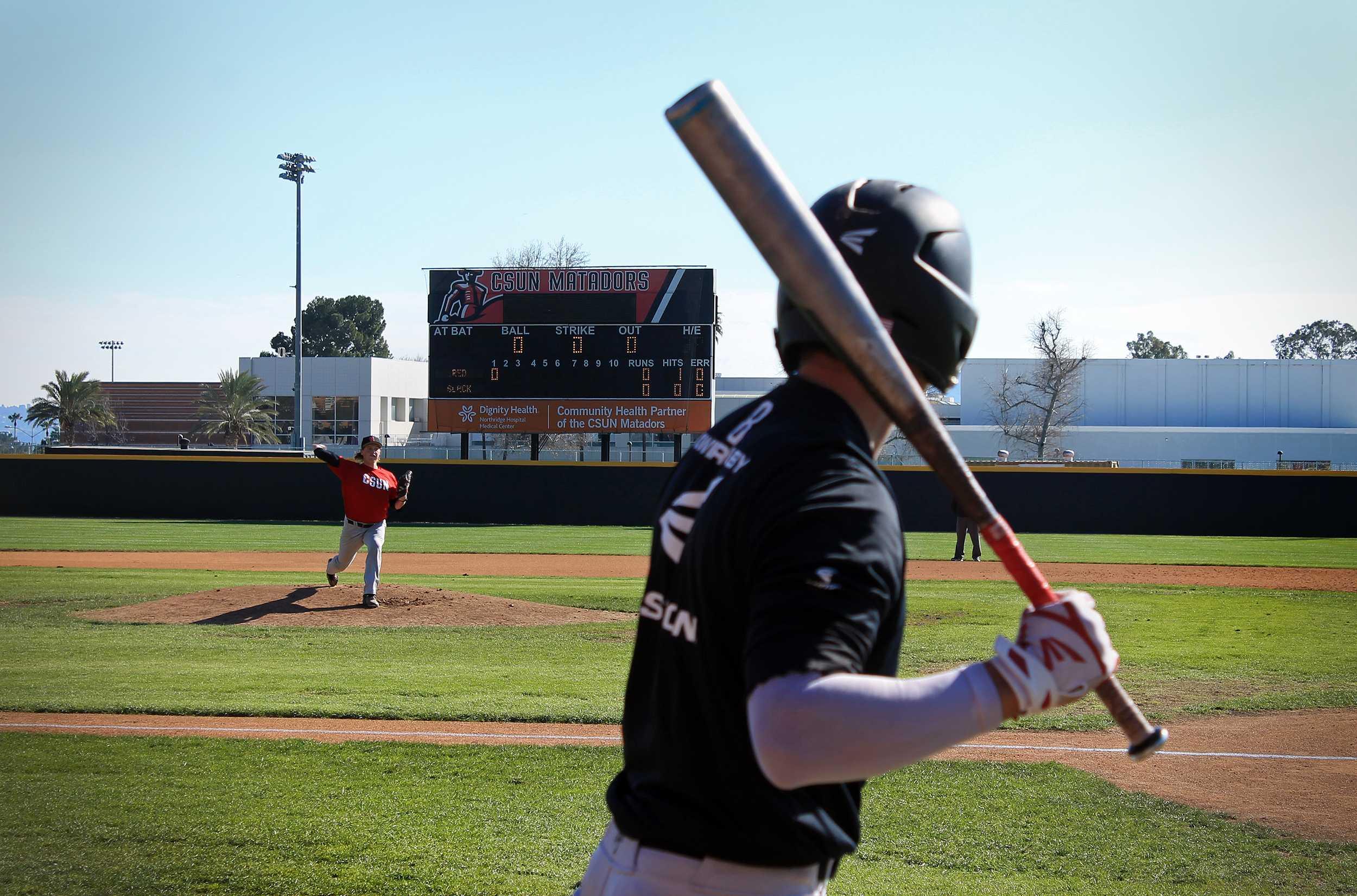 A CSUN men's baseball game
