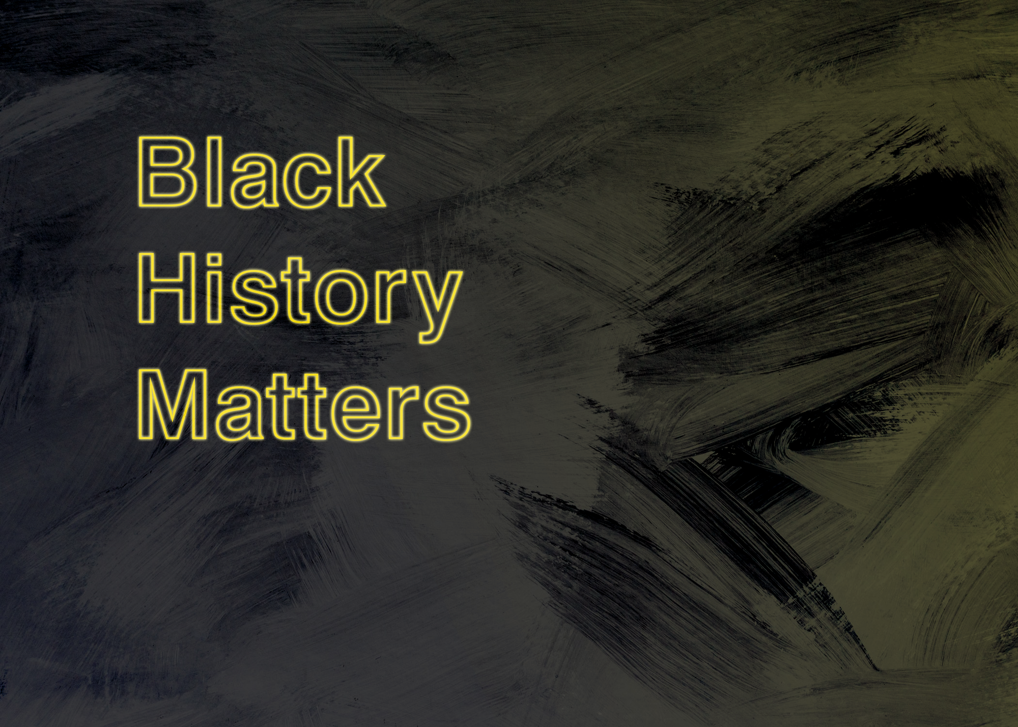 A calendar advertisement called Black History Matters