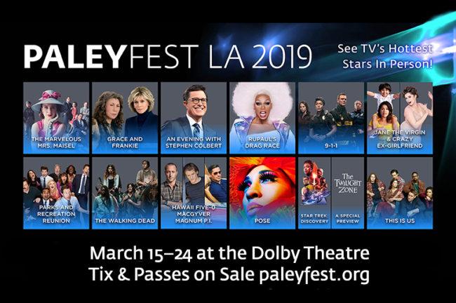 A picture of Paleyfest LA 2019 calendar