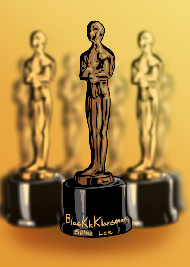 A photo illustration of oscar Award