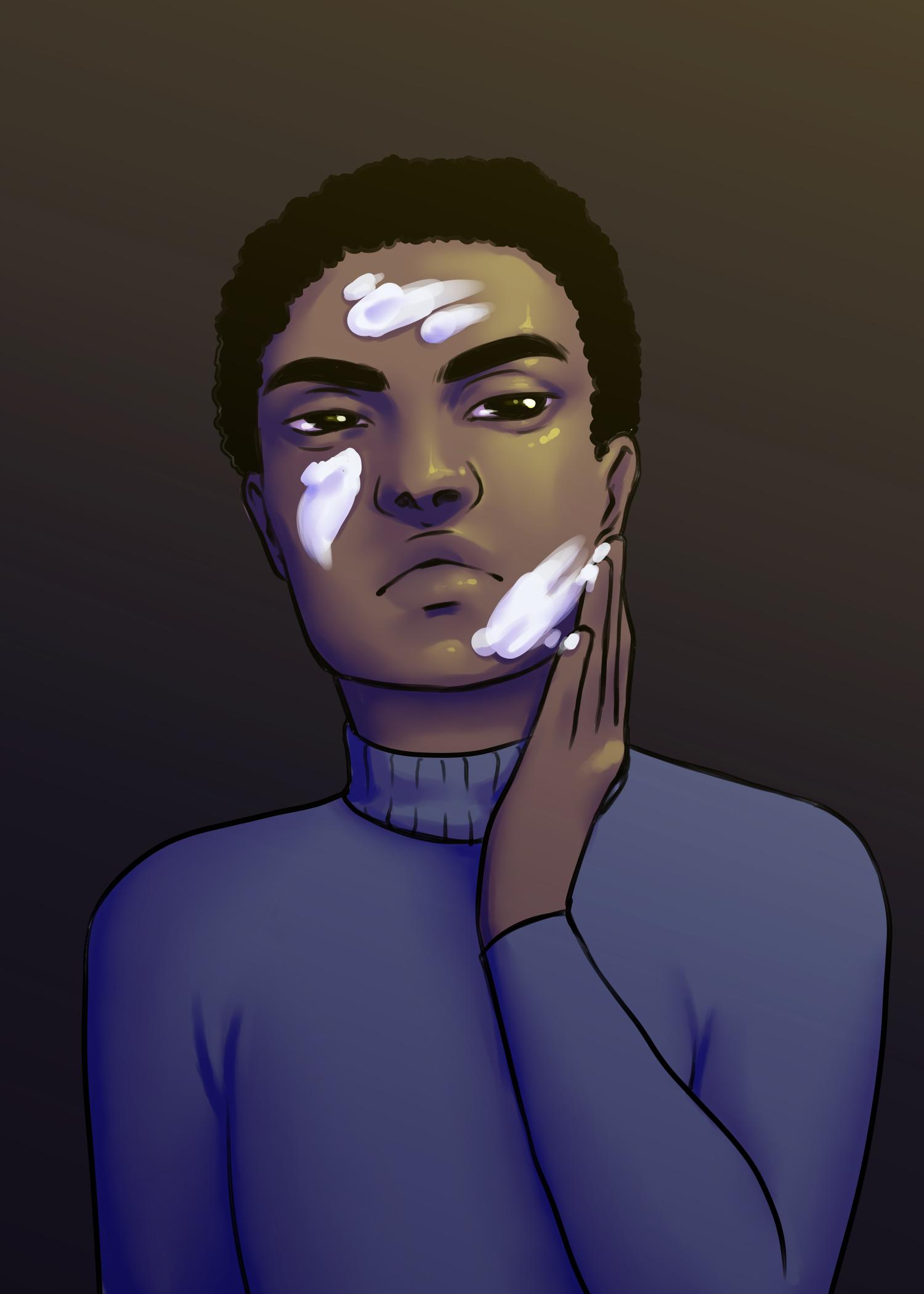 A digital illustration of a man