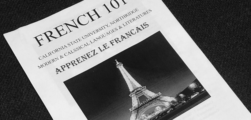 A paper advertisement for Frenceh 101