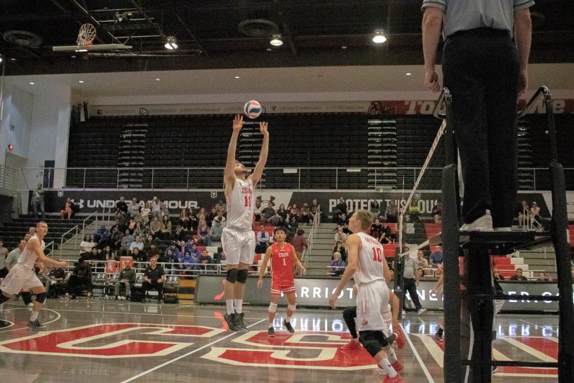 A CSUN Men's Volleyball game