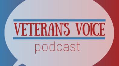 A calendar advertisement for Veteran's Voice Podcast