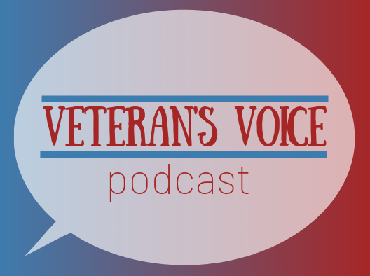 A calendar advertisement for Veteran's Voice Podcast