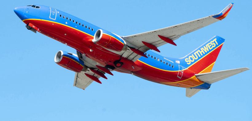 A Southwest aircraft