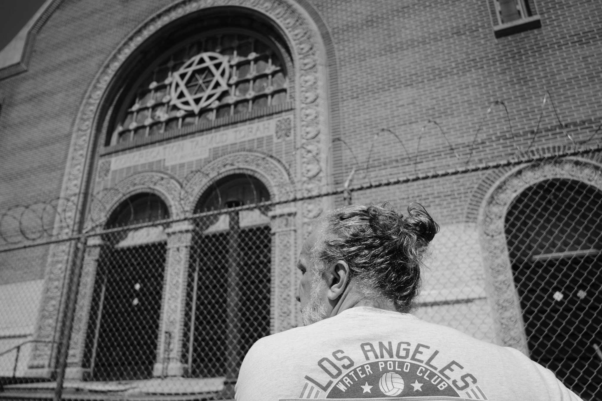 On May 11, Dr. Graves stands in front of an old and now abandoned synagogue. Just one of the many remnants of the huge Jewish community that once lived here. Photo credit: Blake Berry