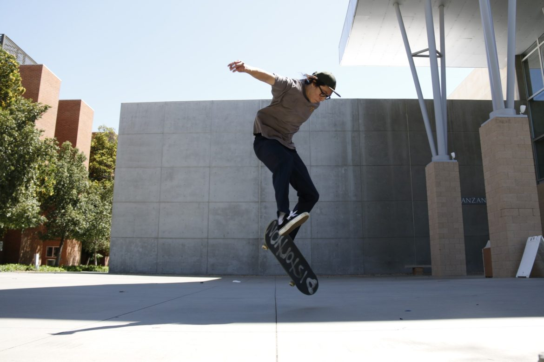 Skater on campus