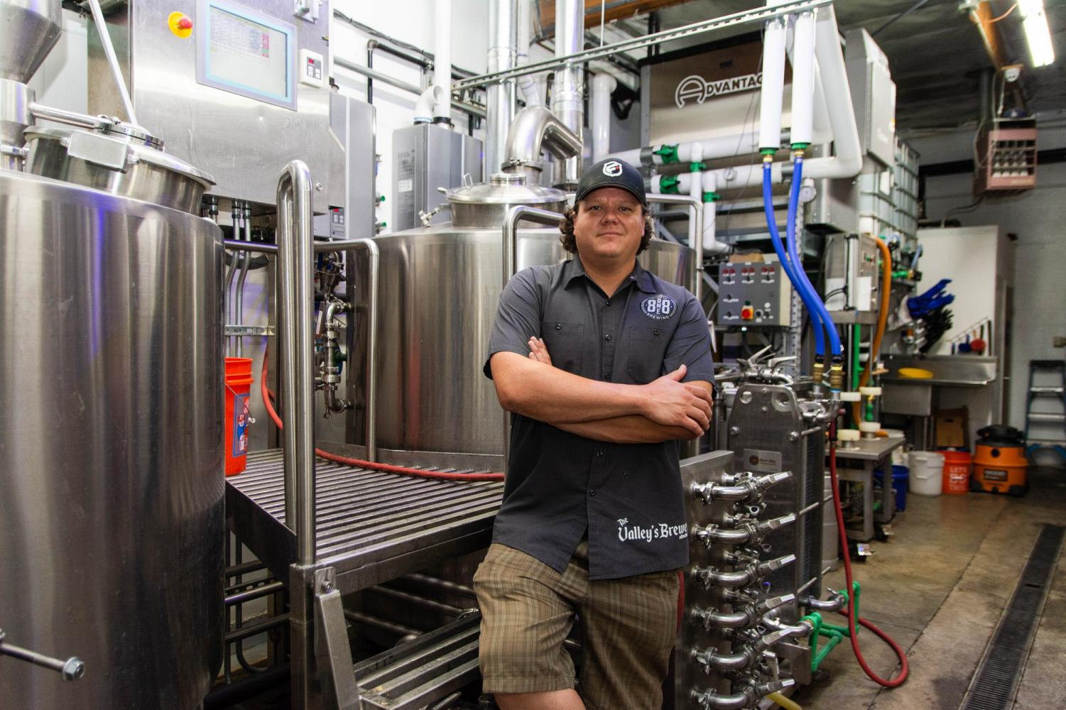 Some of the finest inventions have been created in garages, including Derrick Olson's first batch of beer in his hometown of Sylmar which gave birth to 8one8 Brewing for locals to enjoy. Photo credit: Joshua Pacheco