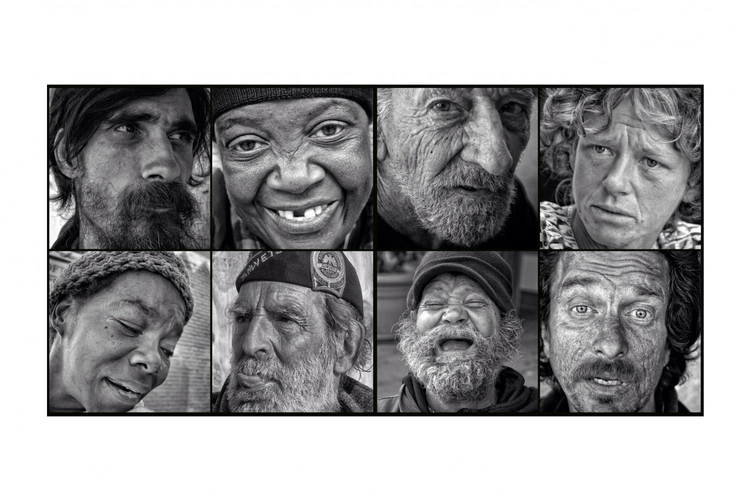 Montage of a variation of what homelessness actually looks like. Another way of destigmatizing what homelessness has been said to look like vs. what the reality is. People on the streets are just that: people. Photo courtesy of David Blumenkrantz