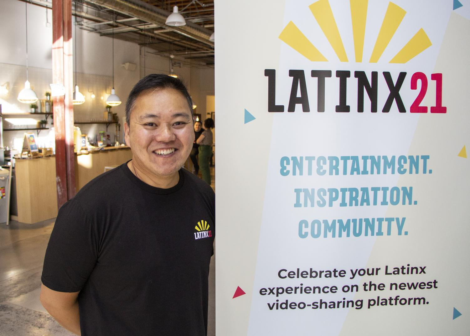 Joe Bautista, the head of Intersect LA focuses on branding and creative strategy for Latinx21. Photo credit: Tim Strong