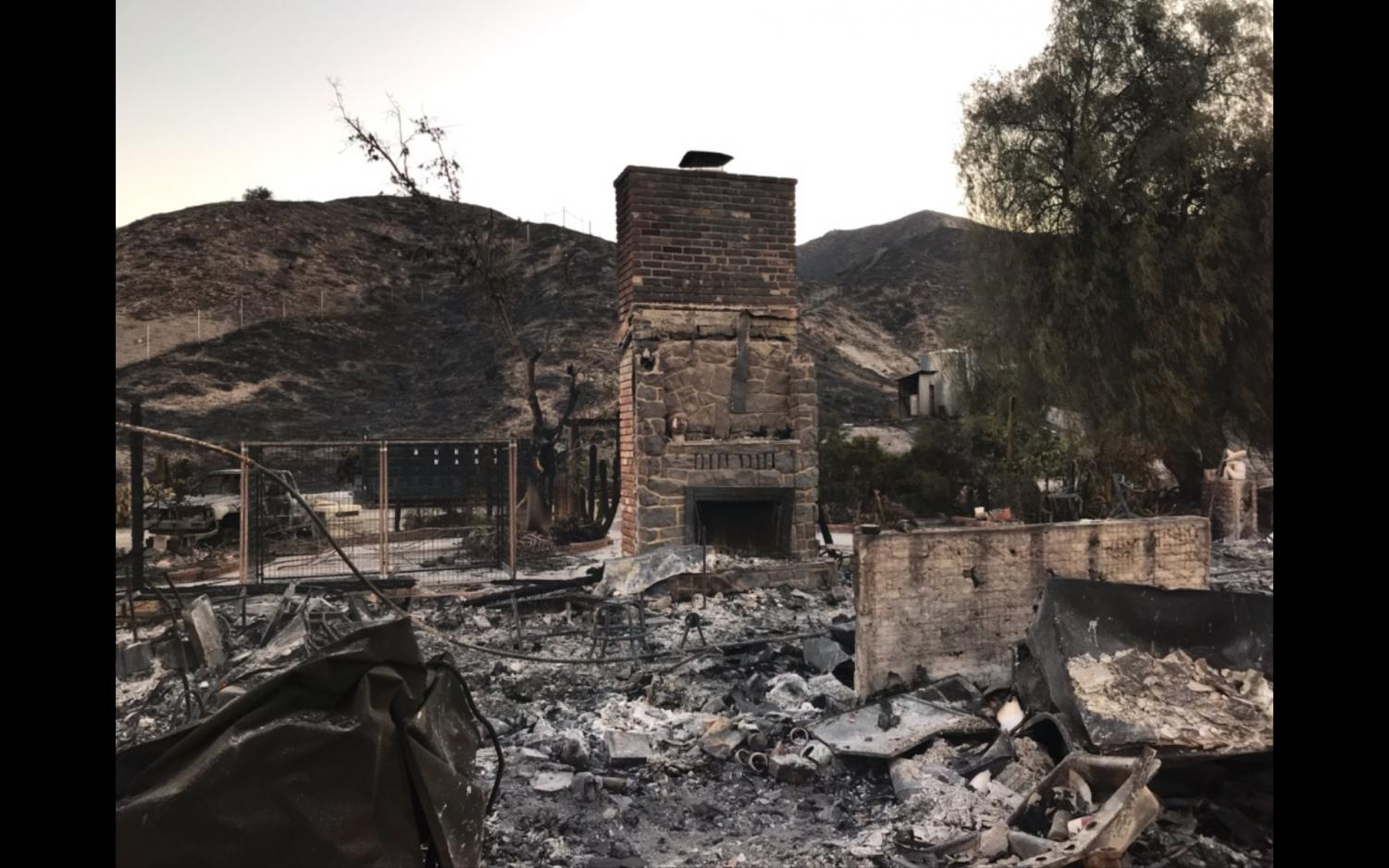Robin Thompson's home in Santa Clarita after the Tick Fire.