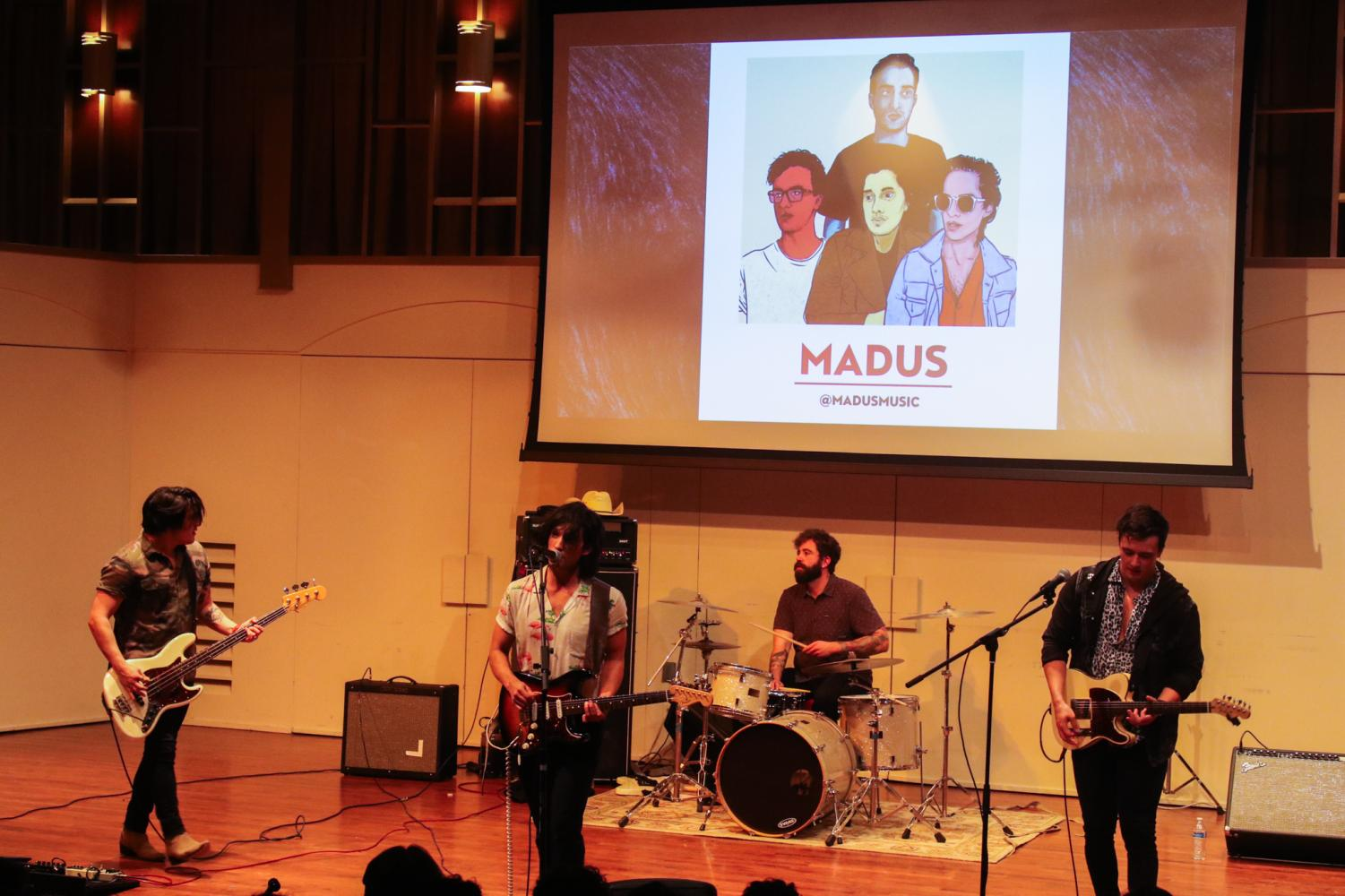 Madus performs live as winners of Artist of the Year 2020 at CSUN's Cypress Recital Hall, hosted by VOVE.