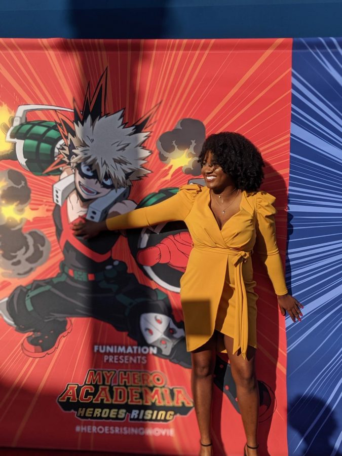 A+girl+with+a+poster+%28My+Hero+Academia%29