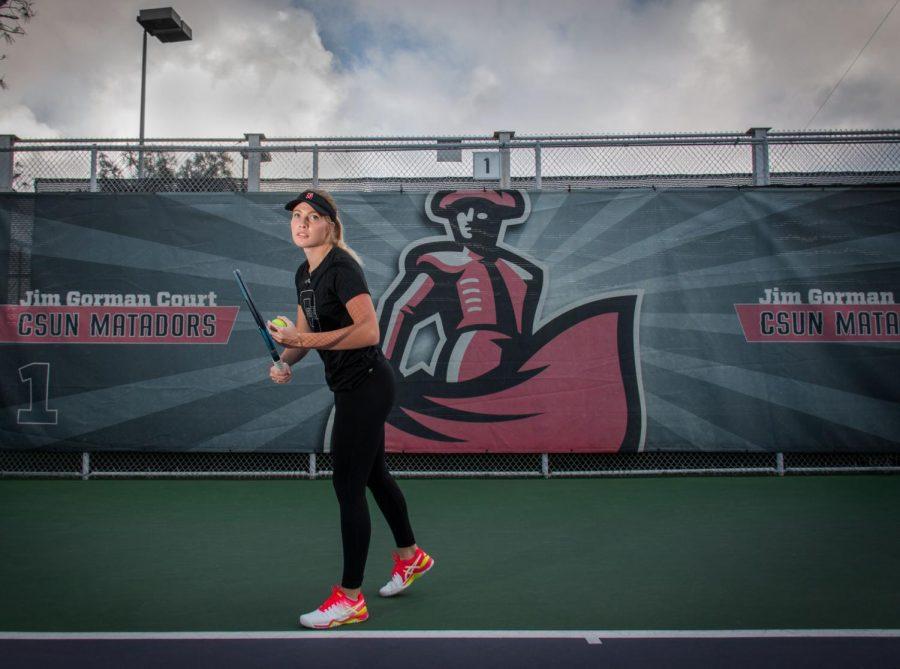 A+CSUN+Womens%27s+Tennis+Player