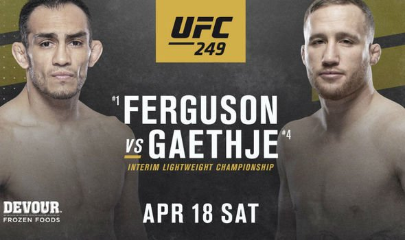 The lineup for the highly anticipated, now canceled UFC 249 that was set to air on April 18.