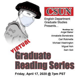 English department's Graduate Reading Series goes virtual