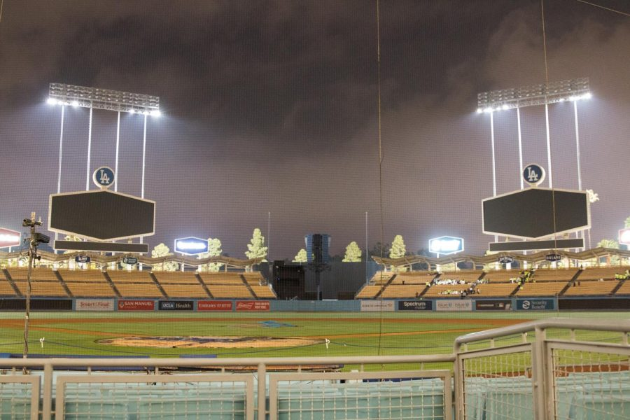 Dodger+Stadium+remains+closed+as+opening+day+is+delayed.