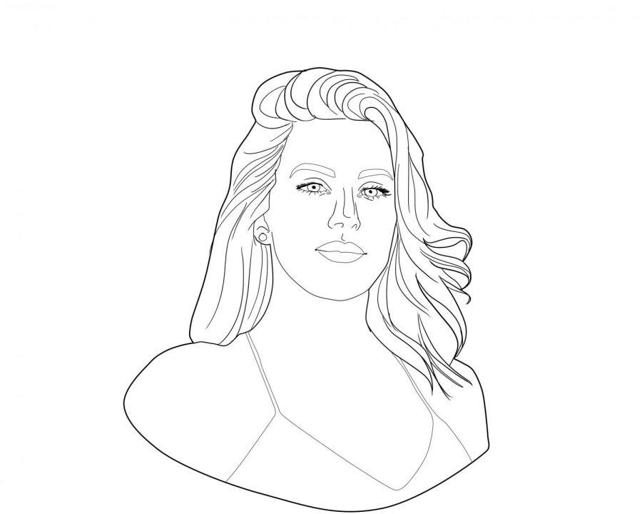 Friday: Ellie Goulding,  Illustration by Matthew Lopez
