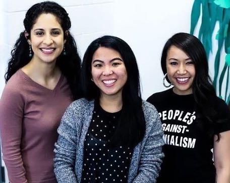 DREAM center workers (left to right): Daniela Barcenas, Madison Villanueva and Tracy Buenavista.