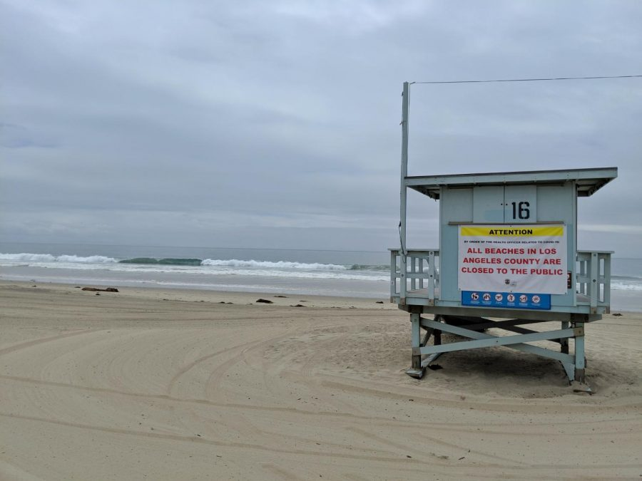 Zuma+Beach+in+Malibu+remains+empty+on+Tuesday+May+12%2C+one+day+before+beaches+are+set+to+open+on+Wednesday.