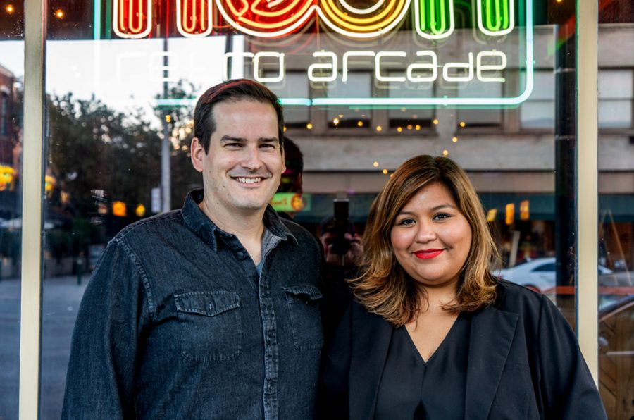 Neon Retro Arcade owners Mark and Mia Guenther opened their first arcade in Pasadena in 2015. The Guenthers preserved and restored games from their personal collection and made them accessible for others to enjoy.