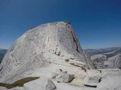 "The ""final stretch"" before reaching the summit of Half Dome."