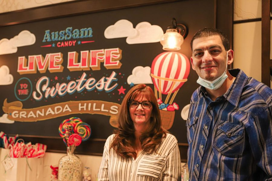 Samantha McDougall and Austin Pearlman, the co-owners of AusSam Candy shop, opened in Old Granada Village in March of 2019.