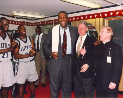 John Thompson with President Bill Clinton.