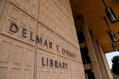 The Oviatt Library is installing a touchless locker hub that will be ready in November. Students can unlock the locker and collect their reserved library materials by using a self-checkout app.
