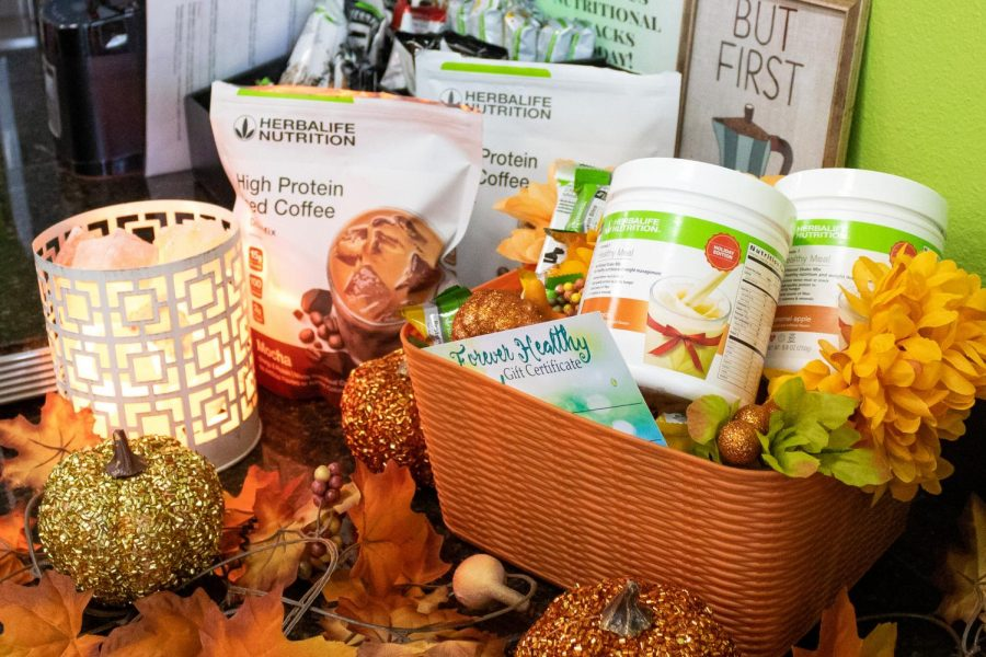 An Herbalife display featuring a variety of nutritional supplements at Forever Healthy in Chatsworth, Calif,. on Thursday, Oct. 1st, 2020.