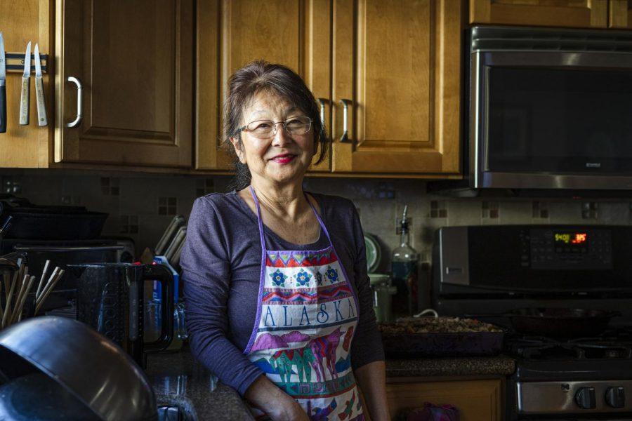 Karen Ehara is responsible for the food at Thanksgiving dinner.