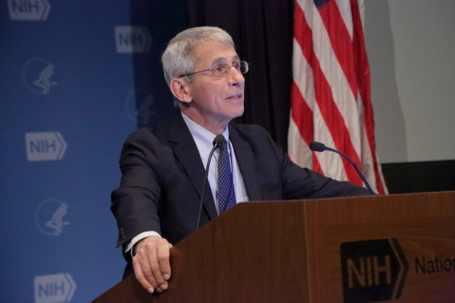 Dr.+Anthony+Fauci%2C+who+has+served+as+the+nation%27s+top+infectious+disease+expert+during+the+coronavirus+pandemic%2C+will+stay+on+when+President-elect+Joseph+Biden+takes+office.+Photo+by+NIAID+via+Creative+Commons