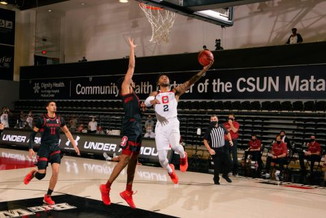 CSUN men's basketball wins against UC Davis, evens record on the season