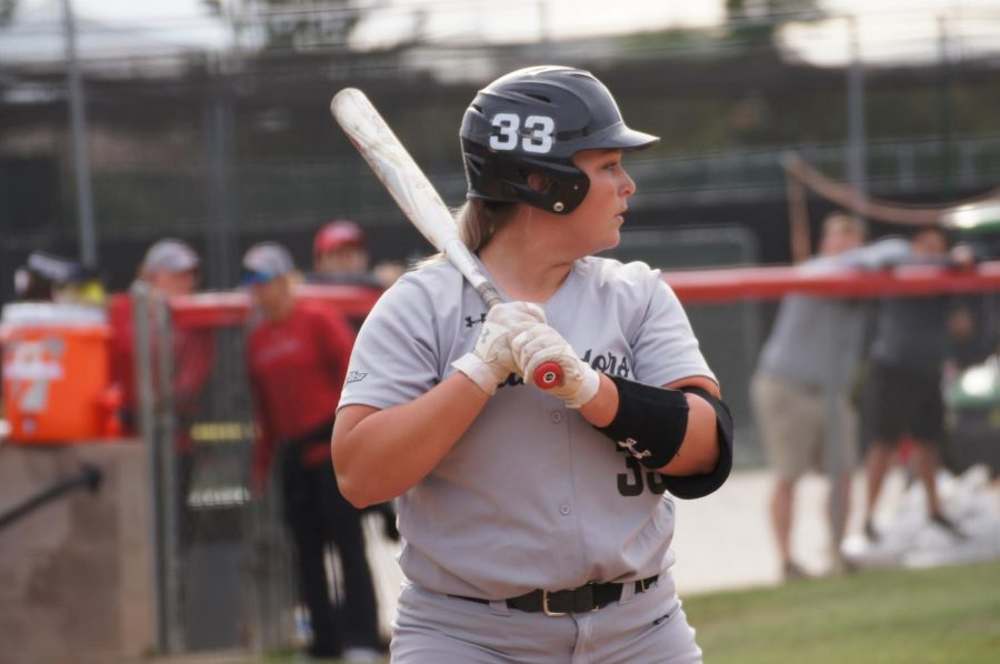 Senior+Megan+Stevens+up+to+bat+against+No.+21+University+of+Central+Florida+on+March+9.++She+went+1-for-2+that+day+producing+one+of+the+two+Matadors+hits.