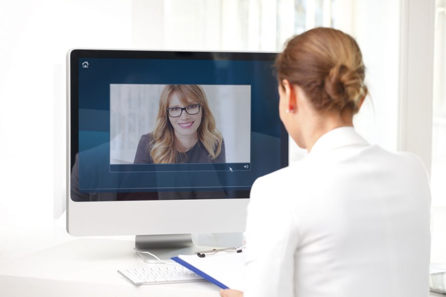 Video conference at office