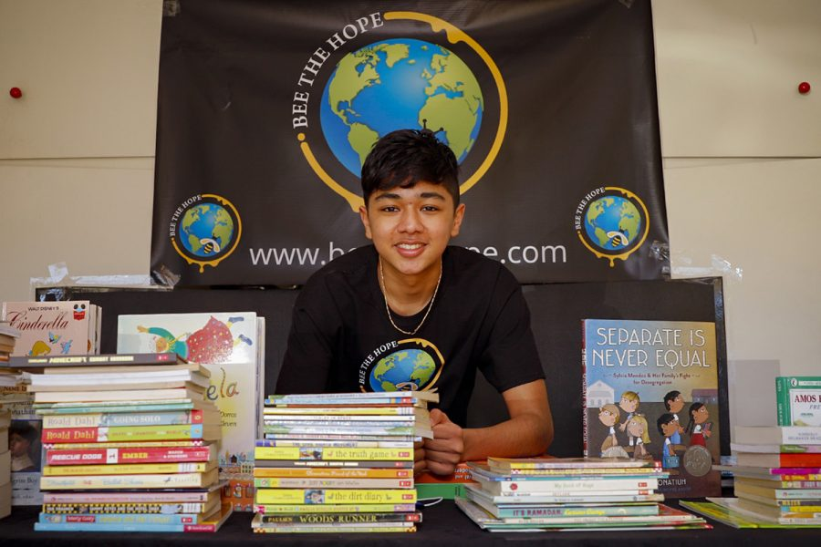 Nirvan Rayamajhi, a junior at Granada Hills Charter High School and president of his community organization Bee The Hope, hosted a book drive where his fellow peers and members of nearby communities donated more than 1,800 books to help struggling students and people experiencing homelessness stay busy during the pandemic.