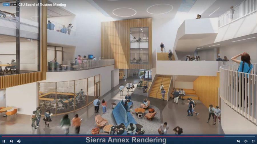 A digital rendering of the Sierra Annex's interior.