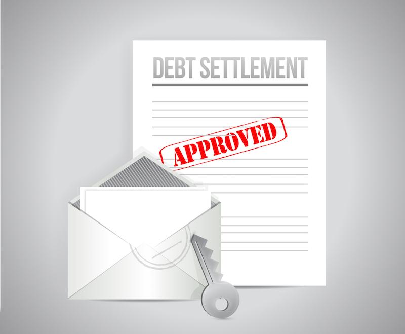 debt settlement approved concept illustration design