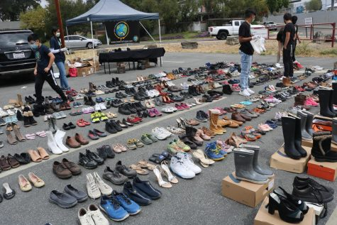 About 500 pairs of shoes were collected at Bee The Hope