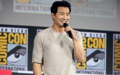 Simu Liu speaking at the 2019 San Diego Comic Con International for