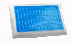 Soft comfortable back pillow with gel