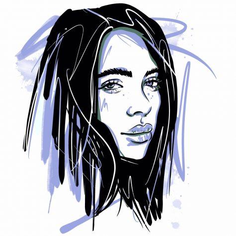 illustration of Billie Eilish