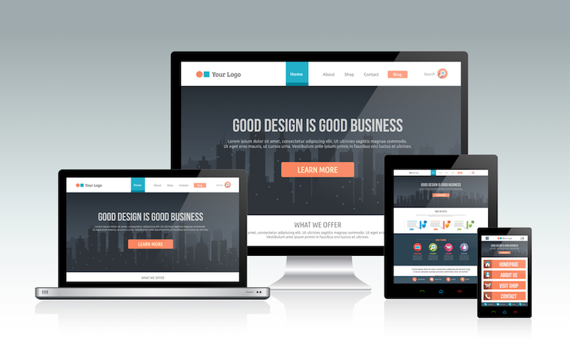 mockups+of+website+on+various+devices
