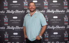 Daniel Sol, CSUN alumni and co-founder of HollyShorts film festival, at the 17th annual HollyShorts film festival at TCL Chinese Theatre in Los Angeles, Calif. on Saturday, Sept. 25, 2021.
