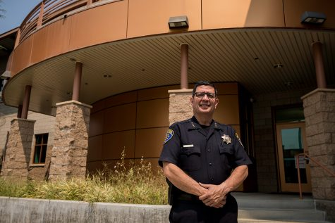 Alfredo Fernandez, the interim Chief of Police at CSUN, stands in the Police Services building. Chief Fernandez has been part of the CSUN Police Department for more than 25 years, which makes him the longest tenured member of the department.