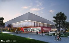 A rendering of the Global Hispanic Serving Institution Equity Innovation Hub at CSUN in Northridge, Calif.